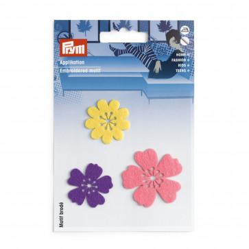 Prym Applikation selbstk. aufbügelb. Blumen bunt