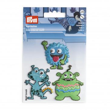 Prym Applikation selbstk. aufbügelb. Monster blau/grün
