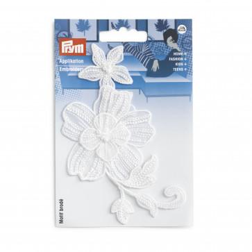 Prym Applikation Blumenranke festlich weiß