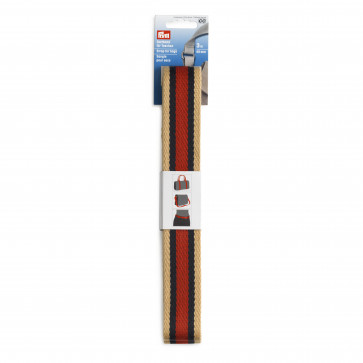 Prym Gurtband für Taschen 40 mm beige/blau/rot