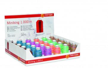 GÜTERMANN Display Miniking Multicolor 1000m/30