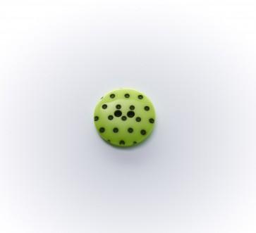 15mm Polyesterknopf m.Pünktch. 2-loch, gefärbt