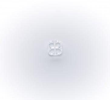 11mm Untertrittknopf 4-eckig, gr.Lö