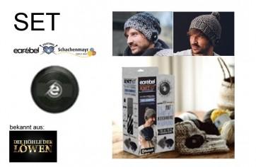 EAREBEL Strickset - grey black