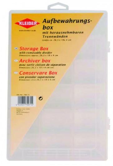 Aufbewahrungsbox transparent groß