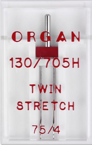 ORGAN Maschinnadel Zwilling-Stretch 4,0 a 1Stk