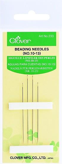 CLOVER Nadel f. Perlenarbeiten Nr. 10, 13