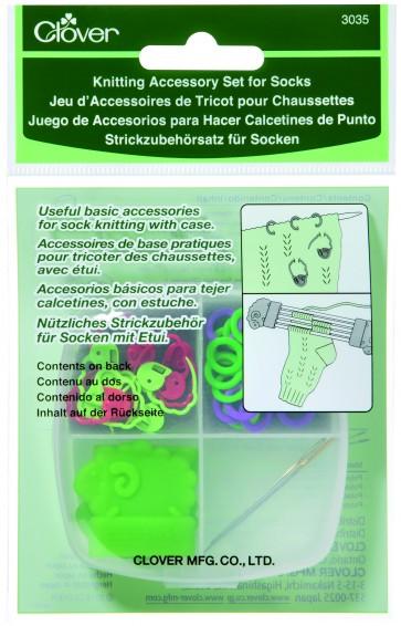 CLOVER Strickzubehörsatz f. Socken