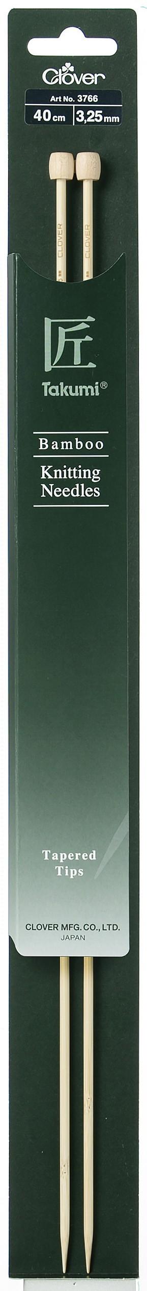 CLOVER Jackenstrickndl. Bambus Takumi 40cm/3.25mm