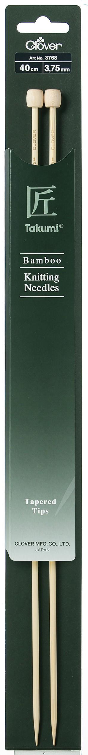 CLOVER Jackenstrickndl. Bambus Takumi 40cm/3.75mm