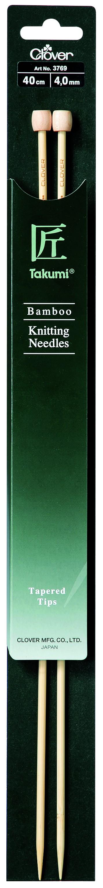 CLOVER Jackenstrickndl. Bambus Takumi 40cm/4.00mm