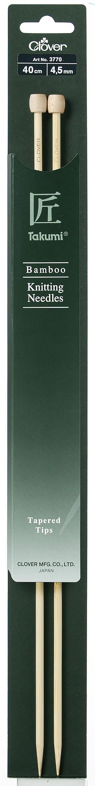 CLOVER Jackenstrickndl. Bambus Takumi 40cm/4.50mm
