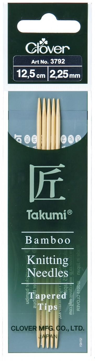 CLOVER Strumpfstrickndl Bambus Takumi 12.5cm/2.25mm