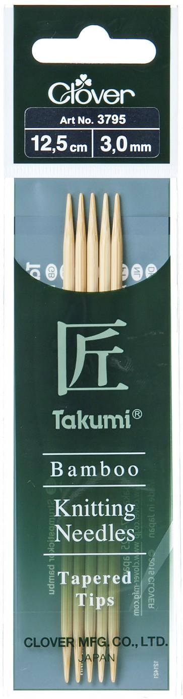 CLOVER Strumpfstrickndl Bambus Takumi 12.5cm/3.00mm