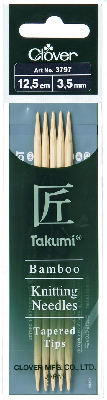CLOVER Strumpfstrickndl Bambus Takumi 12.5cm/3.50mm