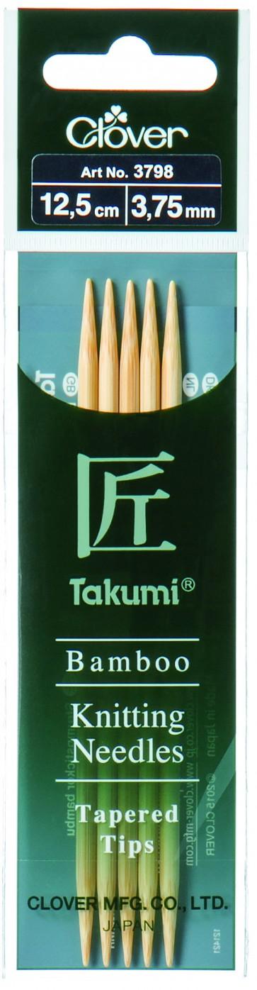 CLOVER Strumpfstrickndl Bambus Takumi 12.5cm/3.75mm