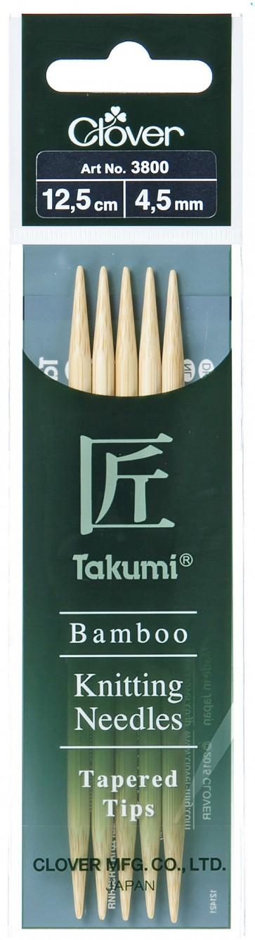 CLOVER Strumpfstrickndl Bambus Takumi 12.5cm/4.50mm