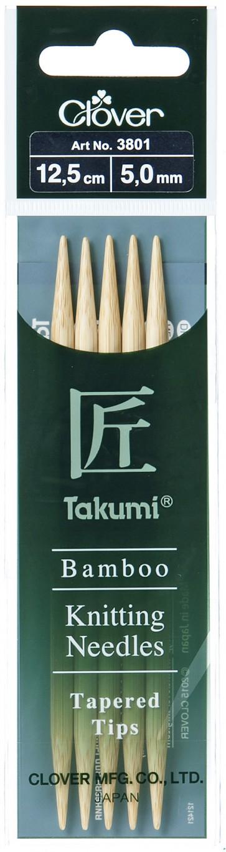 CLOVER Strumpfstrickndl Bambus Takumi 12.5cm/5.00mm
