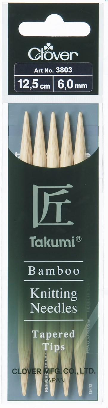 CLOVER Strumpfstrickndl Bambus Takumi 12.5cm/6.00mm
