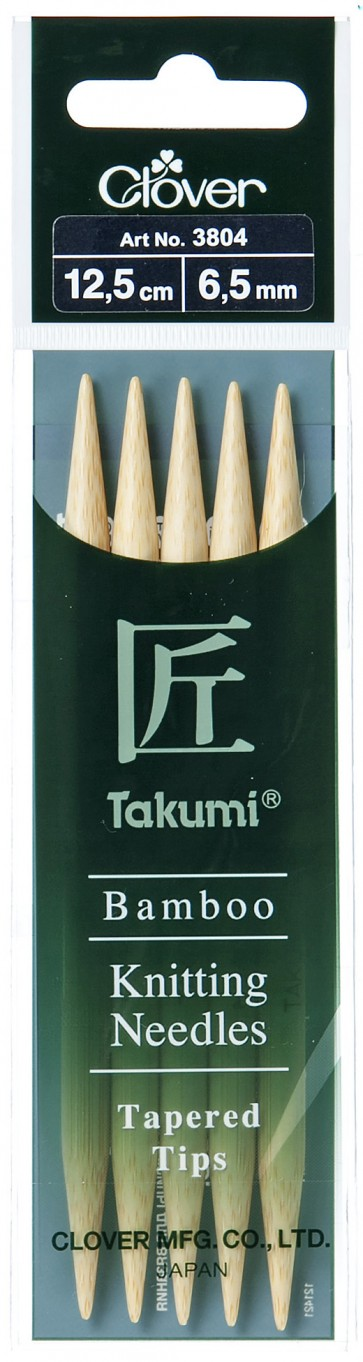 CLOVER Strumpfstrickndl Bambus Takumi 12.5cm/6.50mm