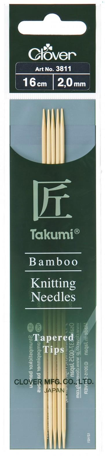CLOVER Strumpfstrickndl Bambus Takumi 16cm/2.00mm