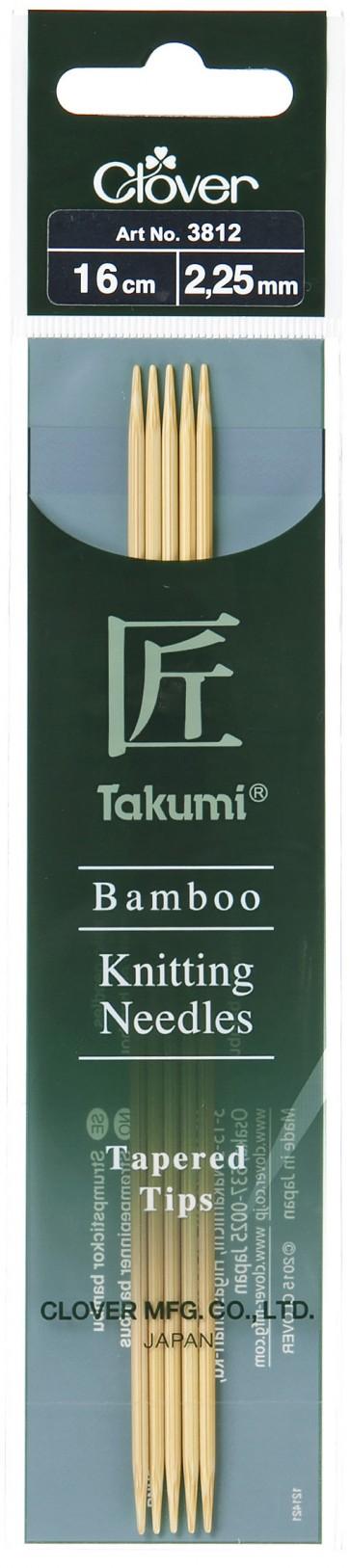CLOVER Strumpfstrickndl Bambus Takumi 16cm/2.25mm