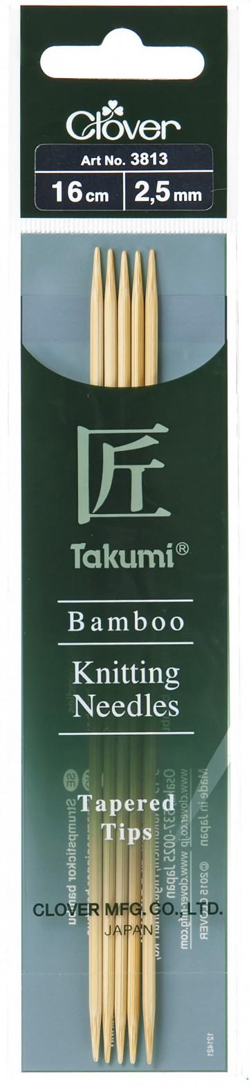 CLOVER Strumpfstrickndl Bambus Takumi 16cm/2.50mm