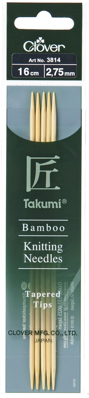 CLOVER Strumpfstrickndl Bambus Takumi 16cm/2.75mm