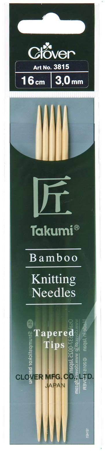 CLOVER Strumpfstrickndl Bambus Takumi 16cm/3.00mm