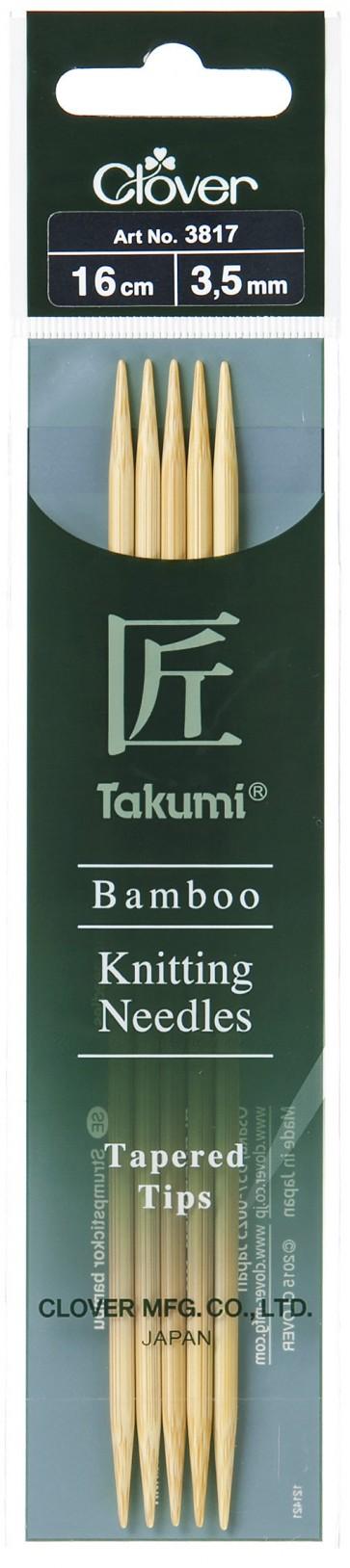 CLOVER Strumpfstrickndl Bambus Takumi 16cm/3.50mm