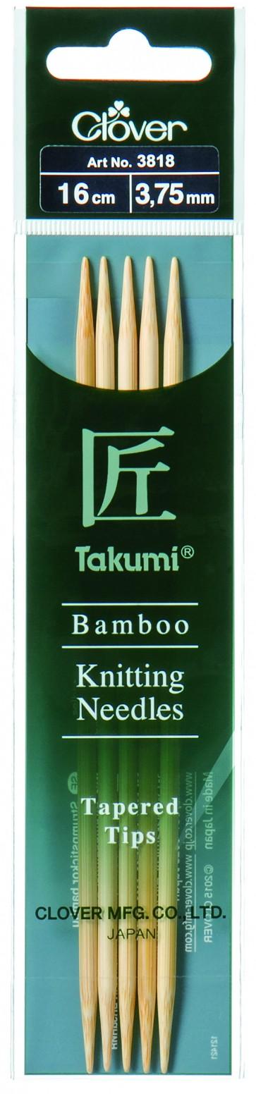 CLOVER Strumpfstrickndl Bambus Takumi 16cm/3.75mm