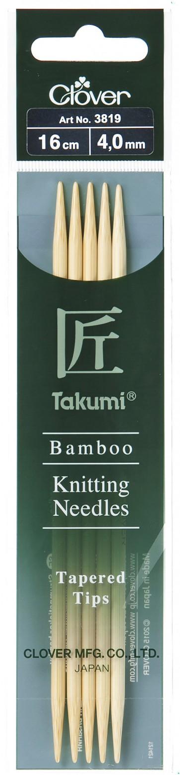 CLOVER Strumpfstrickndl Bambus Takumi 16cm/4.00mm