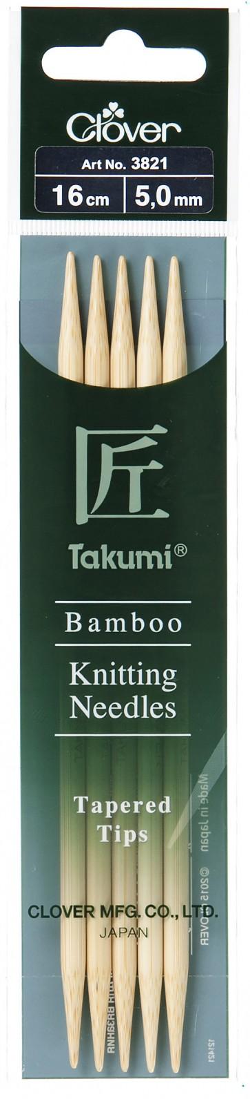 CLOVER Strumpfstrickndl Bambus Takumi 16cm/5.00mm