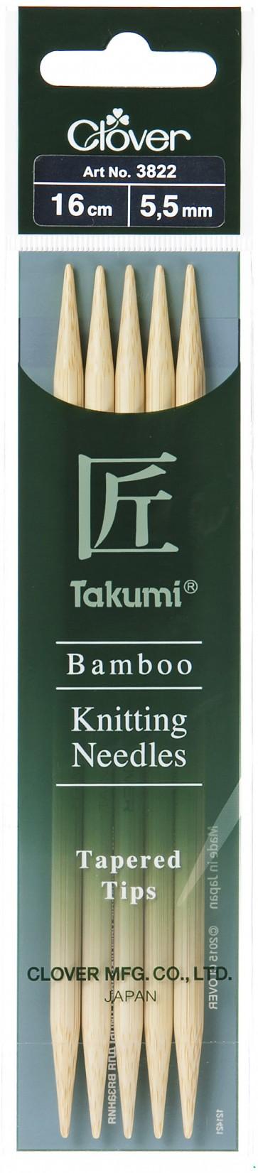CLOVER Strumpfstrickndl Bambus Takumi 16cm/5.50mm