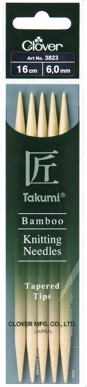 CLOVER Strumpfstrickndl Bambus Takumi 16cm/6.00mm