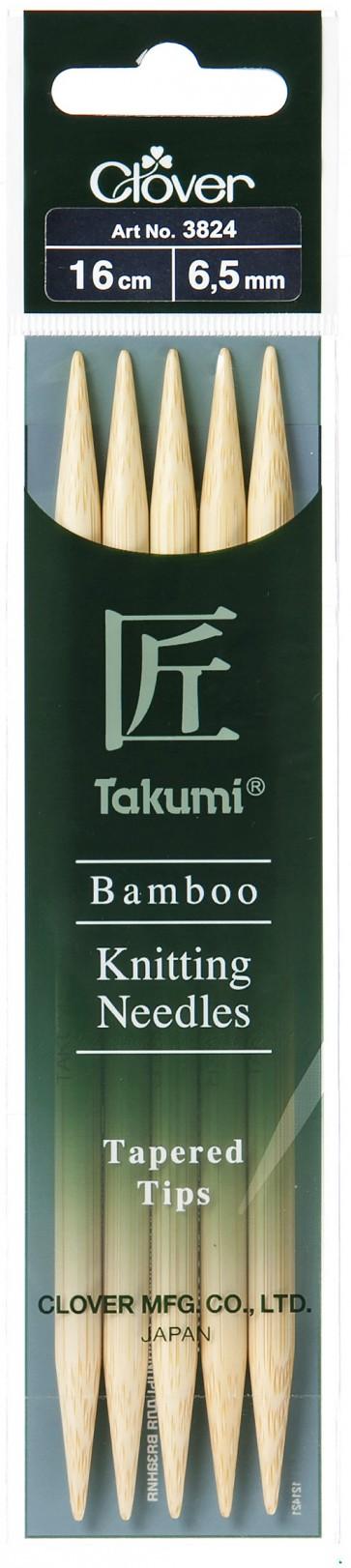 CLOVER Strumpfstrickndl Bambus Takumi 16cm/6.50mm