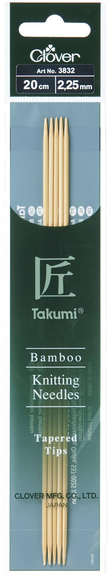 CLOVER Strumpfstrickndl Bambus Takumi 20cm/2.25mm