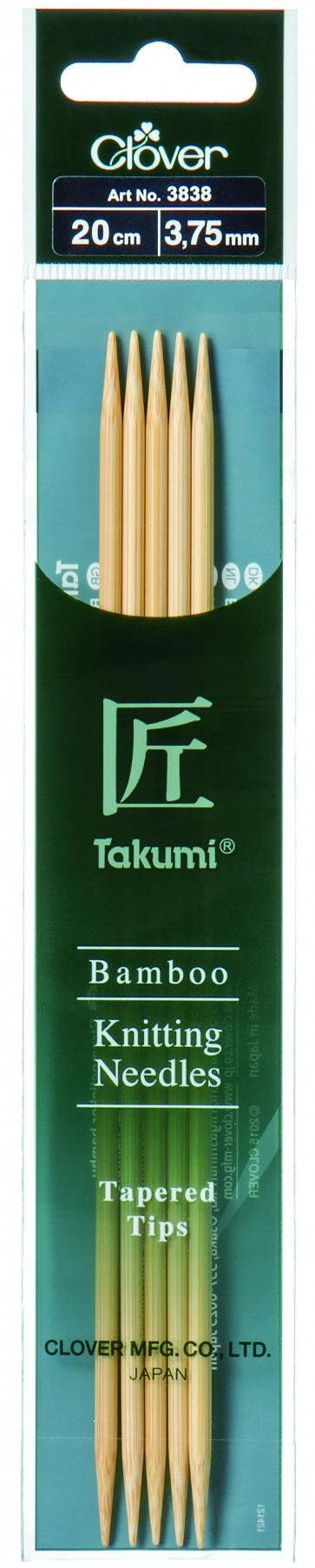CLOVER Strumpfstrickndl Bambus Takumi 20cm/3.75mm