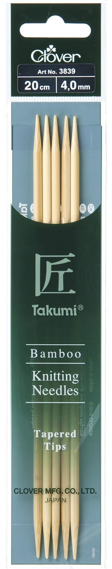 CLOVER Strumpfstrickndl Bambus Takumi 20cm/4.00mm