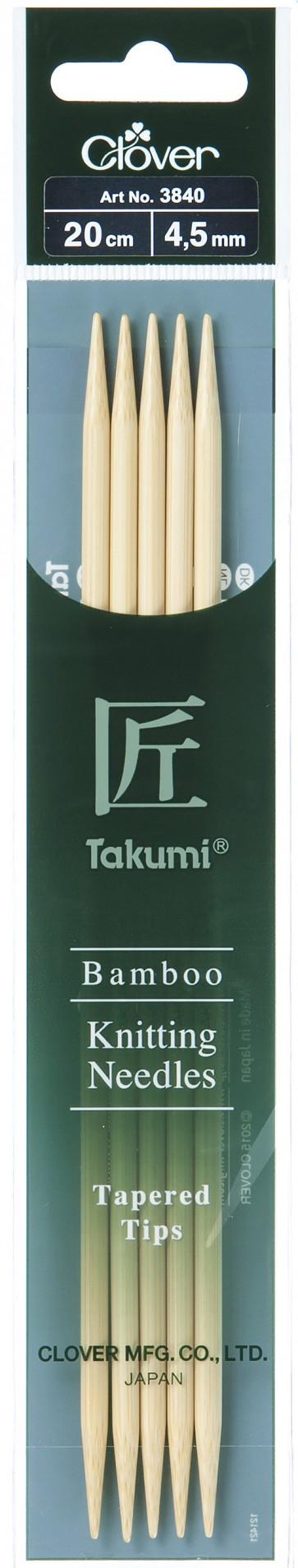 CLOVER Strumpfstrickndl Bambus Takumi 20cm/4.50mm