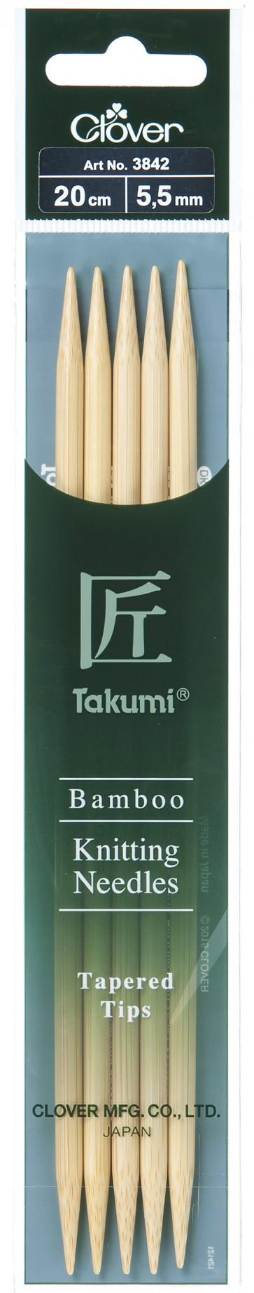 CLOVER Strumpfstrickndl Bambus Takumi 20cm/5.50mm