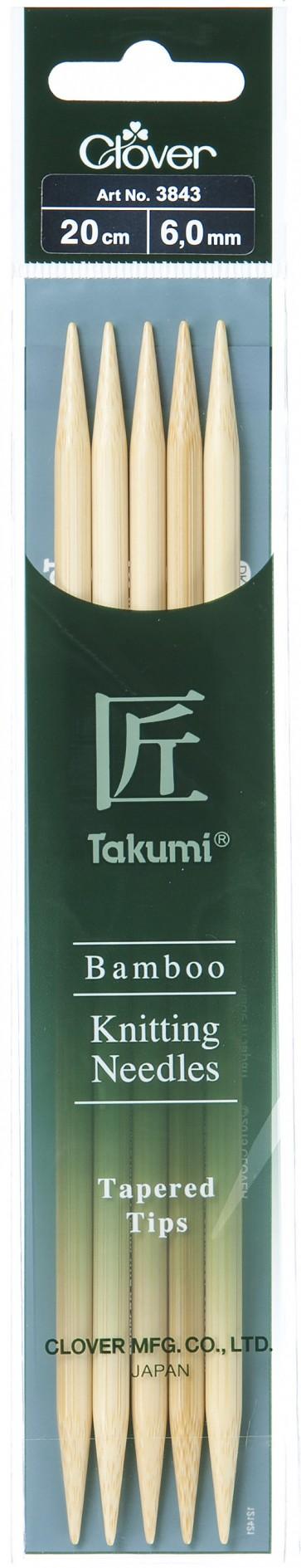 CLOVER Strumpfstrickndl Bambus Takumi 20cm/6.00mm