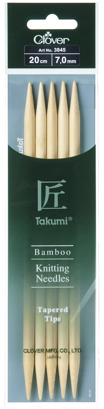 CLOVER Strumpfstrickndl Bambus Takumi 20cm/7.00mm