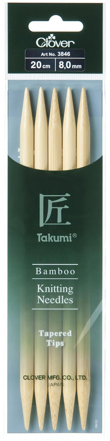 CLOVER Strumpfstrickndl Bambus Takumi 20cm/8.00mm