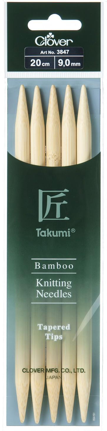 CLOVER Strumpfstrickndl Bambus Takumi 20cm/9.00mm