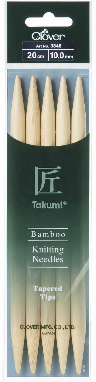 CLOVER Strumpfstrickndl Bambus Takumi 20cm/10.00mm