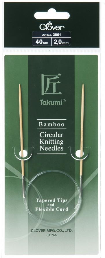 CLOVER Rundstrickndl. Bambus Takumi 40cm/2.00mm