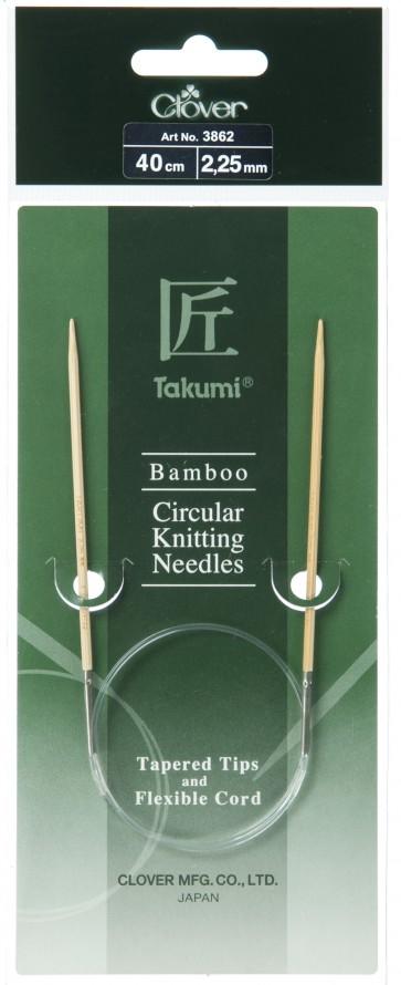 CLOVER Rundstrickndl. Bambus Takumi 40cm/2.25mm
