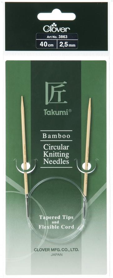 CLOVER Rundstrickndl. Bambus Takumi 40cm/2.50mm