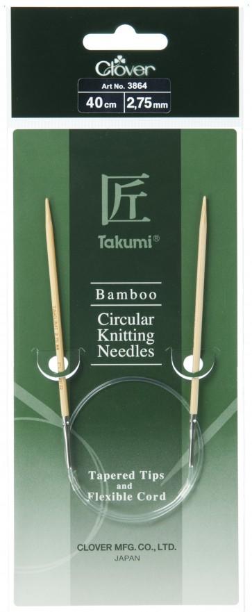 CLOVER Rundstrickndl. Bambus Takumi 40cm/2.75mm